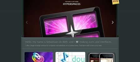Icondesigner.net - очень стильный сайт голландского дизайнера иконок Себастьяна де Вита
