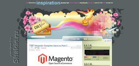 Cult-f.net - красочный блог о веб-дизайне