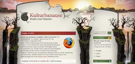 Kulturbanause.de - очень красивый сайт веб-дизайнера Йонаса Хельвига из Дюссельдорфа