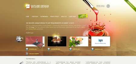 Outline2design.com - еще один красивый сайт веб-дизайн студии
