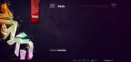 Tanq.cl - несмотря на кажущуюся простоту этого чилийского сайта, в его дизайне много креатива