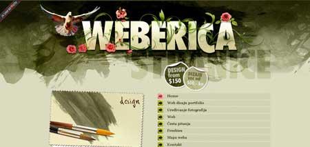 Weberica.net - красочный сайт хорватского веб-дизайнера