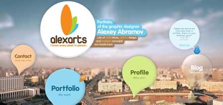 Alexarts.ru - портфолио московского дизайнера Алексея Абрамова