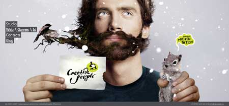 Cpeople.ru - сайт креативного агентства CreativePeople