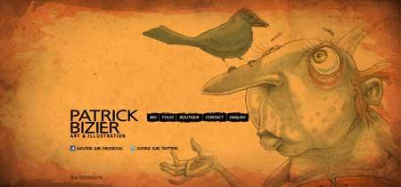 Patrickbizier.com - красивый рисованный сайт канадского дизайнера и иллюстратора Патрика Бизьера