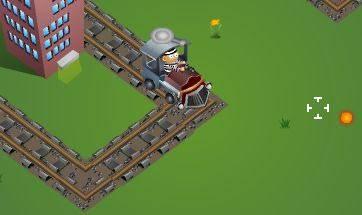 увлекательная flash игра, в которой нужно ездить на паровозе и стрелять все вокруг