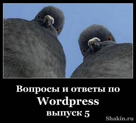 Вопросы и ответы по WordPress - выпуск 5