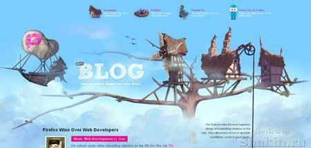 Blog.thepixel.com - очень оригинальный дизайн блога