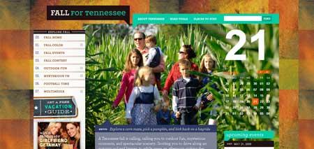 Fall.tnvacation.com - как всегда, своим дизайном радует туристический сайт по штату Теннесси