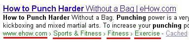 Google вводит «хлебные крошки» в результатах поиска
