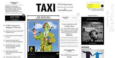Designtaxi.com - сначала я подумал, что это сайт какого-нибудь такси
