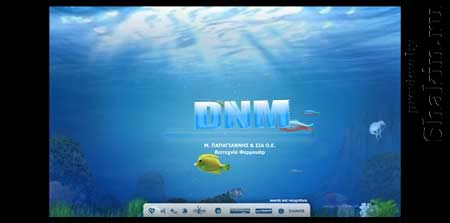 Dnm.gr - красивый греческий сайт с плавающими рыбами