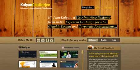 Kalyanchatterjee.com - сайт с эффектным дизайном