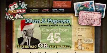 Momandpopcorn.com - шикарный веб-дизайн в стиле ретро