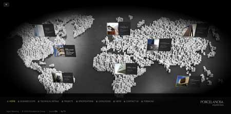 Porcelanosa-arquitectura.com - очень оригинальный flash сайт