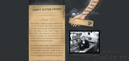 Tonystattoos.co.uk - сайт английской тату студии
