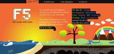 Ffive.com.au - коллективный сайт австралийских вебдизайнеров