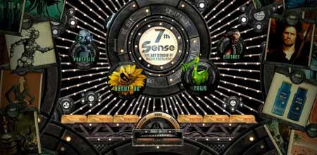 7sense.com.ar - открывает сегодняшнюю подборку красивых сайтов великолепный сайт дизайнера Диего Эскалада из Аргентины