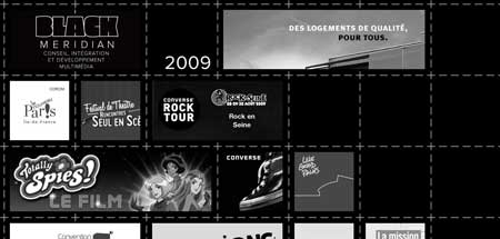 Black-meridian.com - необычно оформленное портфолио парижской веб-дизайн студии