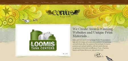 Corvusart.com - интересный сайт калифорнийской веб-дизайн студии