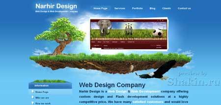 Narhir.com - красочный сайт веб-дизайн студии