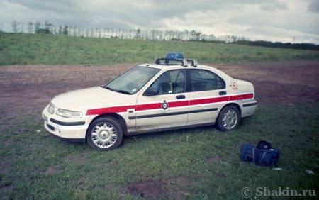 Вот то самое фото полицейской машины, на которой я прокатился