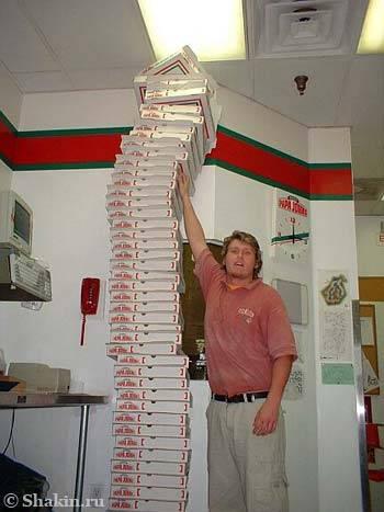 В тот день мы со Стивом решили собрать пачку коробок под самый потолок