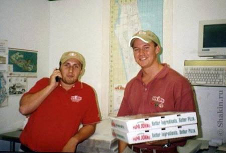 я с BCool'ом в пиццерии