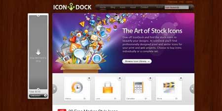 Icondock.com  - попав на этот сайт по продаже иконок