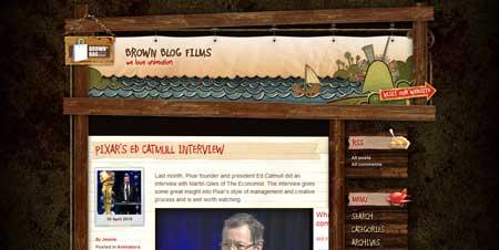 Brownblogfilms.com - блог ирландской студии анимации с необычным дизайном