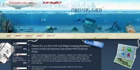 Dizzain.com  - красивый сайт веб-дизайн студии из Нью Йорка