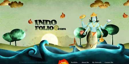 Indofolio.com  - сайт дизайнера Гопала Раджу из Индии