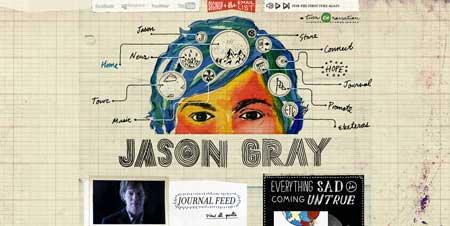 Jasongraymusic.com - оригинальный сайт музыканта Джейсона Грея