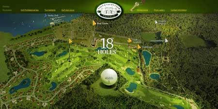 Pestovogolf.com - красивый сайт гольф- и яхт-клуба «Пестово»