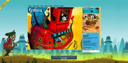 Scarygirl.com  - классная интерактивная онлайн игра, где герой - одноглазая девочка
