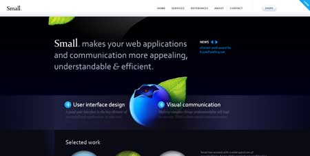 Small.fi  - сайт финской компании Small Creative