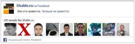 блок друзей Facebook на моем блоге