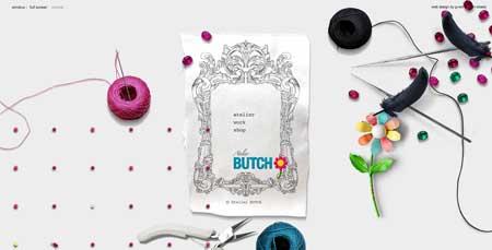 Atelierbutch.com - стильный сайт ателье из Токио