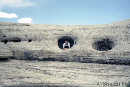 Причудливые пещерки в штате Юта