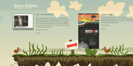 Deanoakley - красивый персональный сайт веб-дизайнера и разработчика из Австралии Дэна Окли