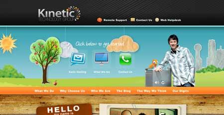 Kinetictg.com - позитивный дизайн IT-компании из Далласа, штат Техас