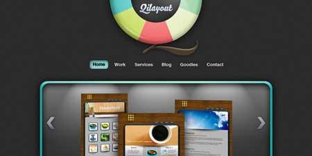 Qilayout.com - красивое портфолио студента из Малайзии Ричи Чина