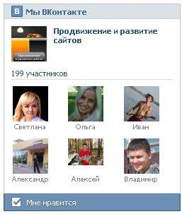 блок друзей Вконтакте