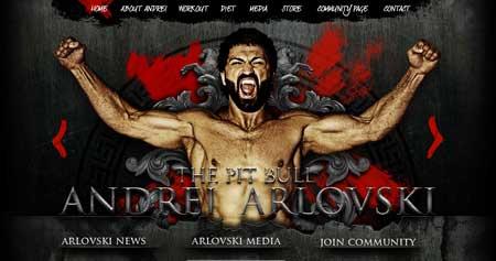 Arlovski.com - сайт белорусского чемпиона по смешанным единоборствам Андрея Арловски
