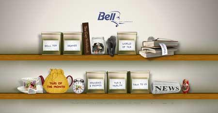 Belltea.co.nz - пример красивого веб-дизайна из Новой Зеландии. Это сайт для любителей вкусного чая