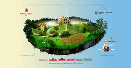 Degtine.lt - очень красивый сайт ликеро-водочной компании из Литвы