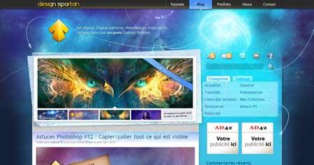 Designspartan.com - красивый блог французского дизайнера и иллюстратора Готана Вельтцера