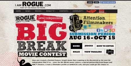 Iamrogue.com - сайт с фильмами и трейлерами с интересным дизайном