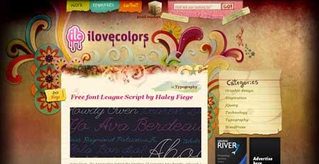 Ilovecolors.com.ar - а теперь пример веб-дизайна из Аргентины