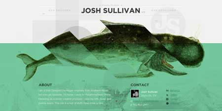 Joshsullivan.me - сайт-портфолио американского веб-дизайнера Джоша Салливана